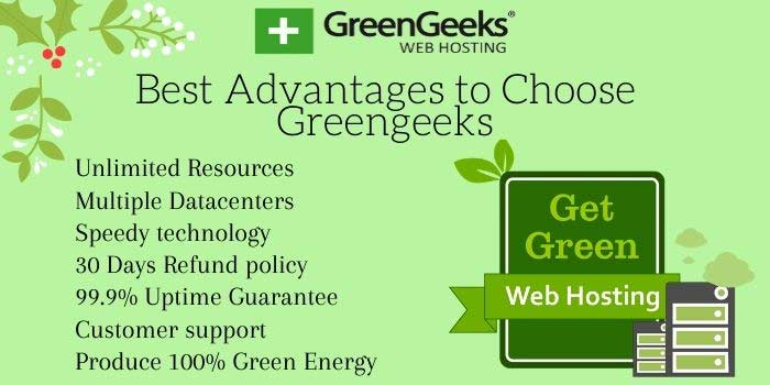 GreenGeeks Advantages