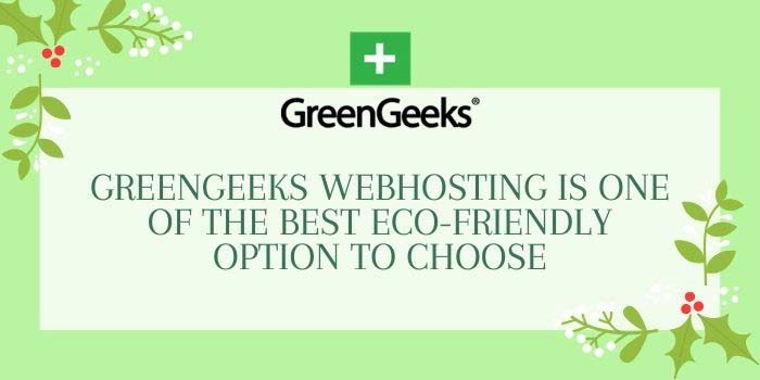 GreenGeeks is Best Eco-friendly Web Hosting